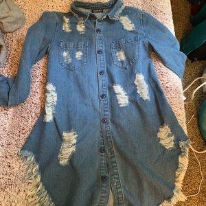 Fashion Nova Jean Dress